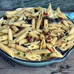 Paste cu ciuperci si ardei gras, reteta rapida