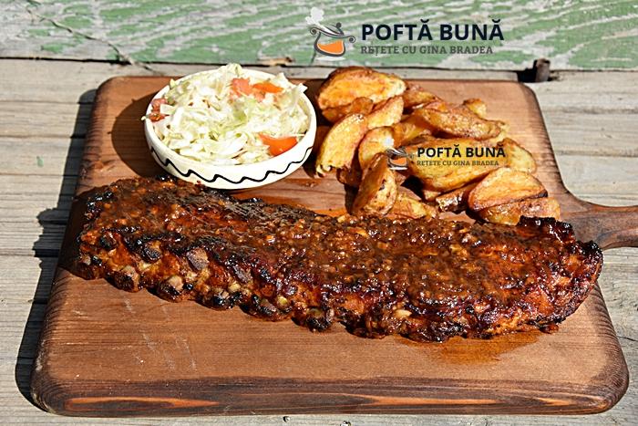 Scarita costite de porc cu bere fragede picante la cuptor 1 - Costita de porc cu bere, frageda si picanta (la cuptor)