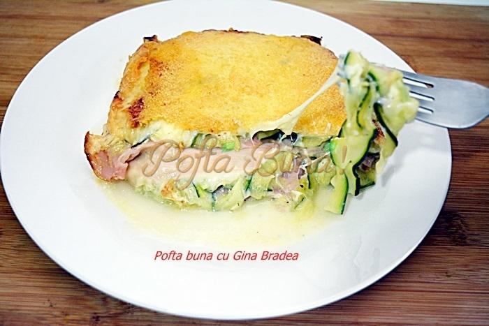 Lasagna cu dovlecei parmezan si sunca presata pofta buna cu gina bradea - Lasagna cu dovlecei, sunca presata si parmezan
