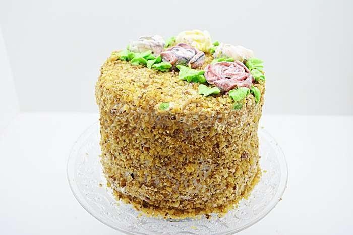 Tort simplu cu nuca pofta buna cu gina bradea 2 - Tort simplu cu nuca