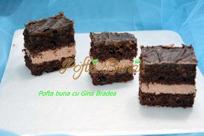 Prajitura cu branza si cacao pofta buna cu gina bradea 10 - Prajitura pufoasa cu branza si ciocolata