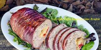 Rulada aperitiv din carne tocata