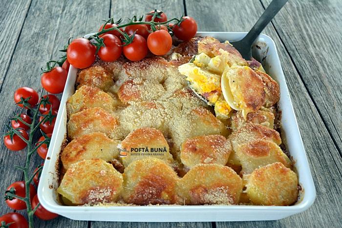 Cartofi frantuzesti reteta simpla 2 - Cartofi frantuzesti sau cartofi gratinati la cuptor, reteta simpla