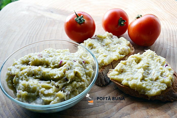 Salata de vinete simpla cu ceapa sau cu maioneza - Salata de vinete reteta pas cu pas