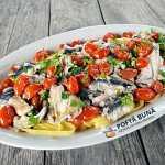 Paste cu sardine rosii si usturoi reteta italiana clasica 150x150 - Paste rapide cu sos de rosii crude, reteta de post