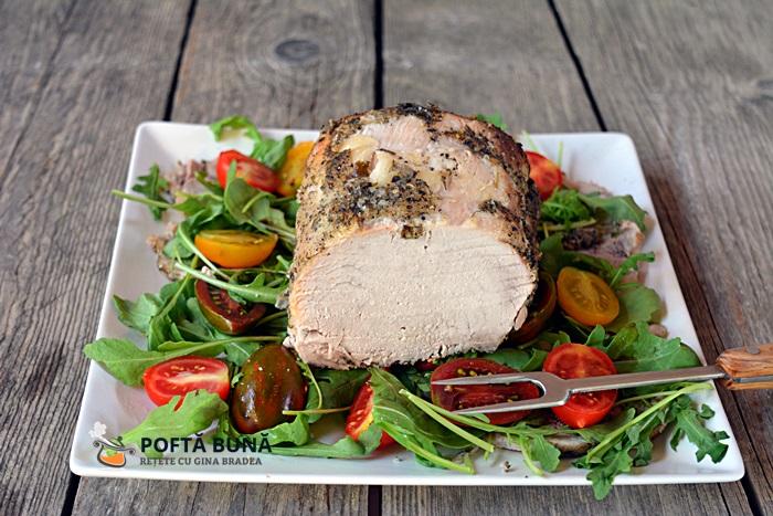Cotlet de porc la cuptor copt in sare - Cotlet de porc la cuptor, copt in sare