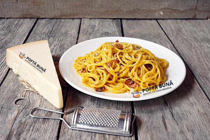 Paste carbonara, reteta originala de spaghete carbonara