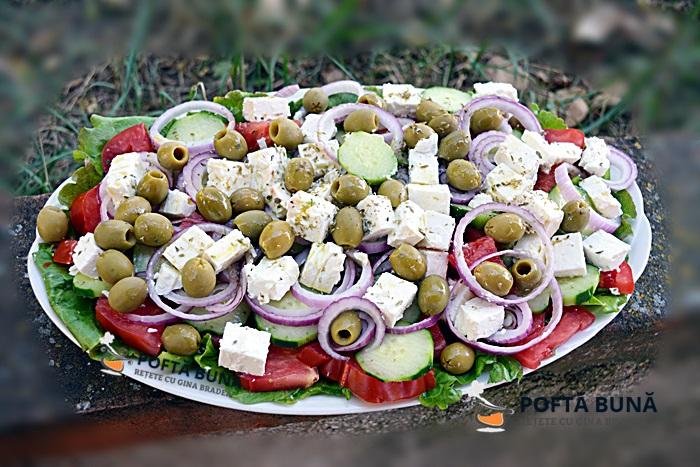 Salata greceasca reteta rapida simpla video pas cu pas 1 - Salata greceasca, reteta simpla si rapida