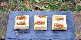 Tarta din foietaj cu branza dulce sau urda si smochine