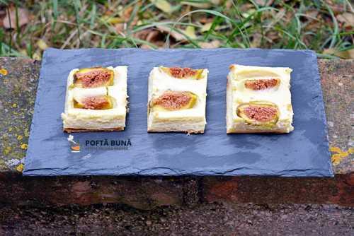 Tarta cu branza dulce ricotta si smochine 500x334 - Tarta cu aluat fraged, crema de vanilie si fructe