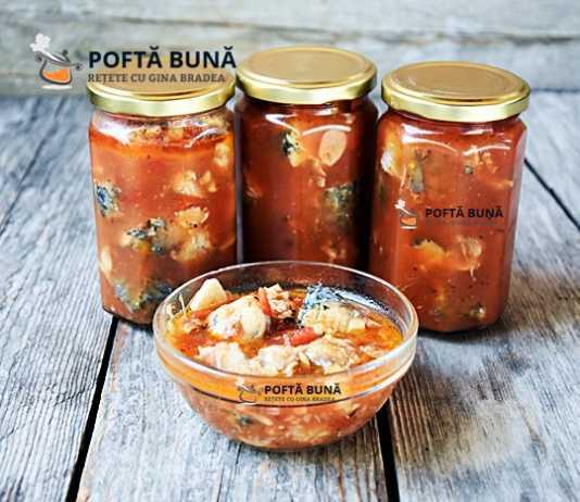 Conserva de peste in sos tomat, reteta pentru iarna