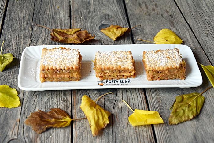 Prajitura de post cu mere nuci si biscuiti reteta video - Prajitura de post fara coacere, cu mere si biscuiti