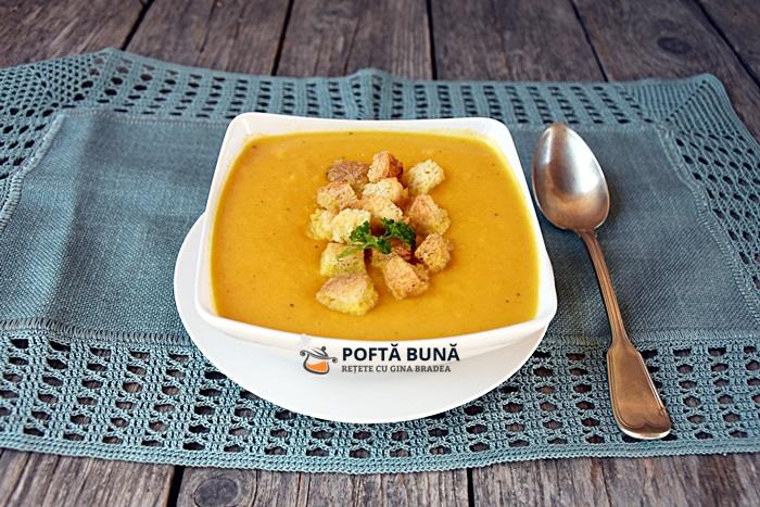 Supa crema de dovleac reteta clasica simpla rapida - Supa crema de dovleac, reteta simpla