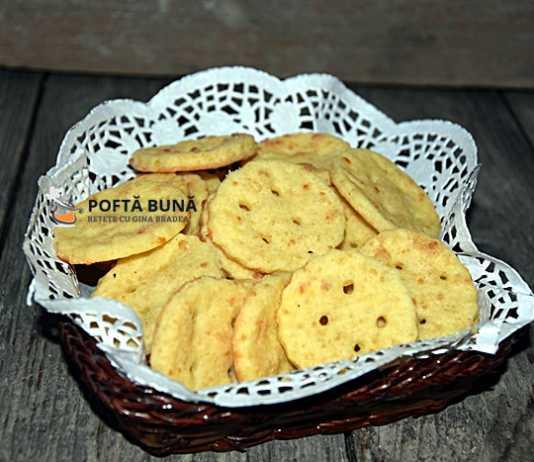 Biscuiti aperitiv cu unt si branza