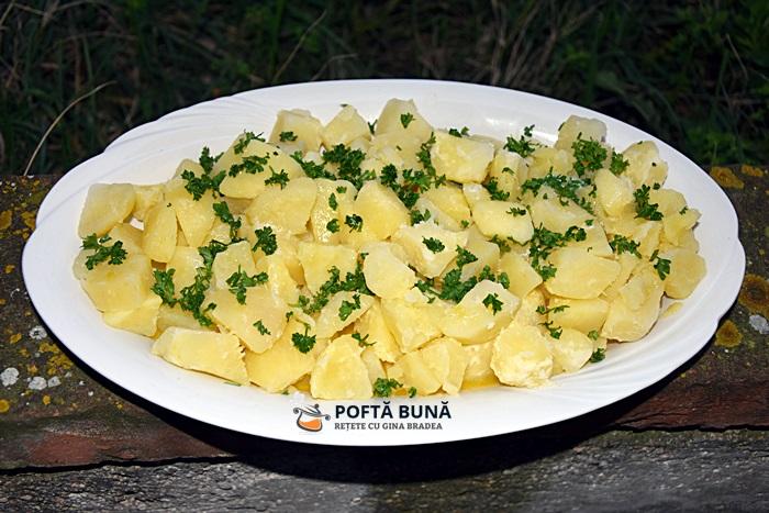 Cartofi natur cu unt ulei si patrunjel reteta clasica dietetica - Cartofi natur cu unt si patrunjel verde
