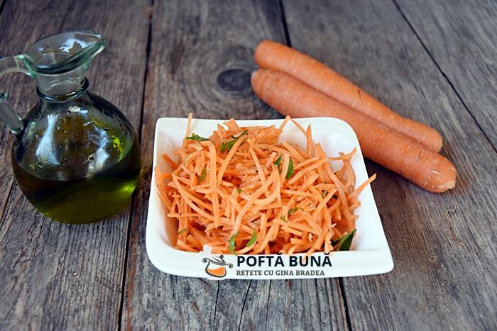 Salata de morcov cu patrunjel reteta video - Salata de morcov cu patrunjel