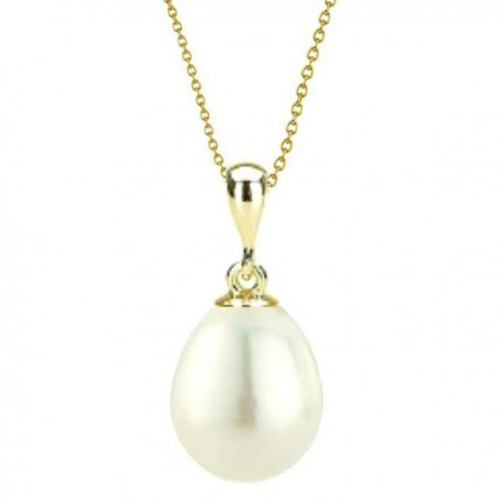 pandantiv aur perla ovala alba - Concurs de Martisor 2018 de la Cadouri si perle