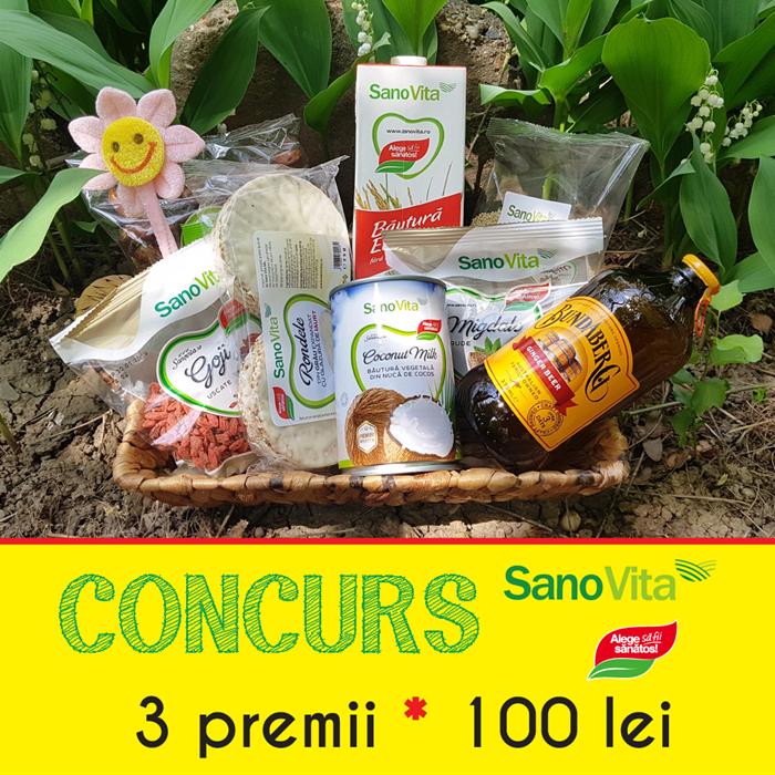 Sanovita FB concursuri parteneri 100 lei 3 - Concurs de 1 Mai 2018 cu Sano Vita