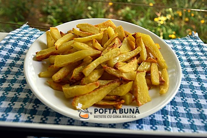 Cartofi prajiti la cuptor cu doar 1 lingura de ulei - Cartofi prajiti la cuptor, cu doar 1 lingura de ulei, mult mai sanatosi