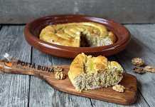 Invartita, placinta cu nuci, reteta traditionala moldoveneasca
