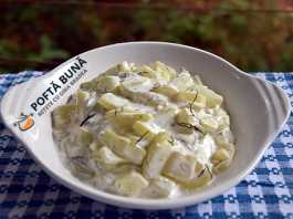 Salata de dovlecei cu iaurt sau maioneza, reteta ieftina si rapida