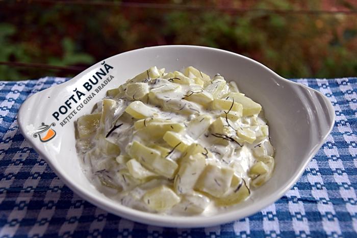 Salata de dovlecei cu maioneza sau iaurt reteta ieftina - Salata de dovlecei cu iaurt sau maioneza, reteta ieftina si rapida