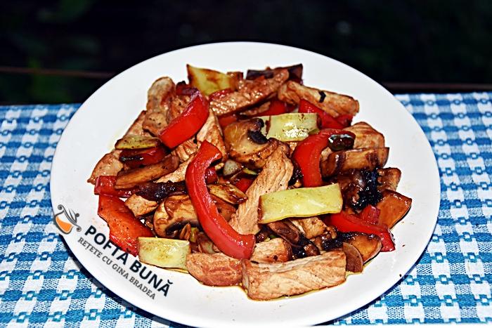 Sote de carne cu legume la tigaie reteta rapida - Sote de carne cu legume la tigaie