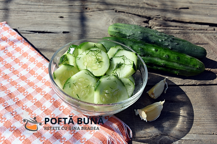 Salata de castraveti cu marar si usturoi reteta simpla - Salata de castraveti, cu usturoi si marar