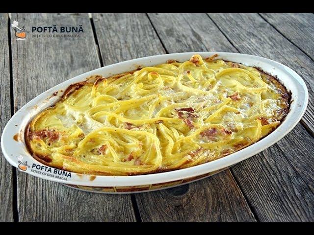 budinca aperitiv paste branza afumatura - Budinca aperitiv din paste cu branza si afumatura