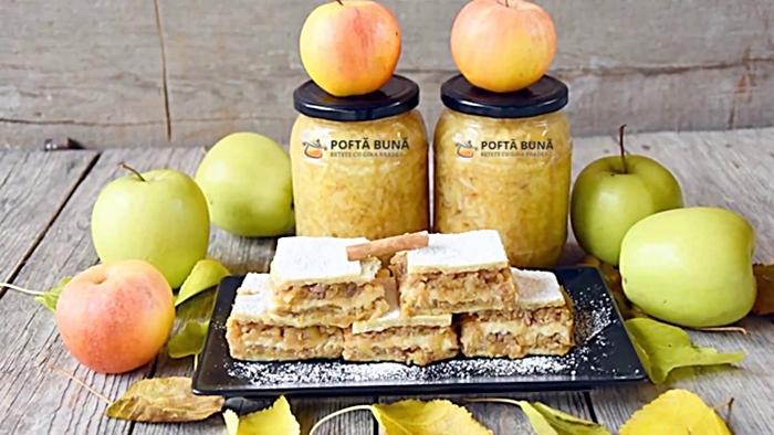 prajitura cu mere si nuca reteta veche - Prajitura frageda cu mere si nuci, reteta veche