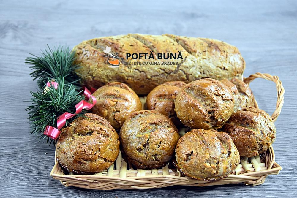 Chifle si paine fara gluten din faina de secara cu nuca - Chifle si paine cu putin gluten din faina de secara, cu nuca