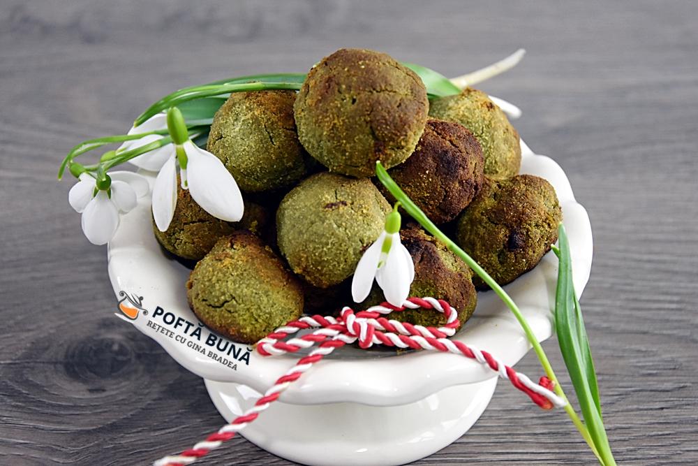 Fursecuri cu matcha si ulei de cocos (fara zahar, fara gluten, fara lactoza)