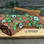 Tort buturuga cu crema de ciocolata si mascarpone
