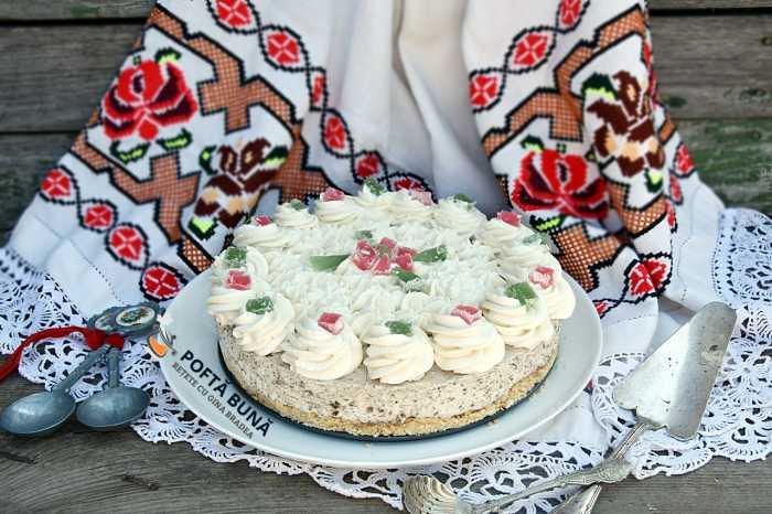 Tort, cheesecake cu halva, fara coacere, reteta simpla si rapida