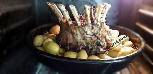 Cotlet, coronita de porc rack, cuptor, fraged si aromat