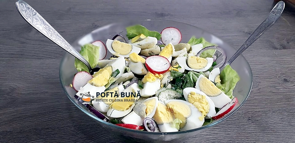 Salata orientala de primavara reteta de salata de cartofi - Salata orientala de primavara cu oua fierte si ceapa verde