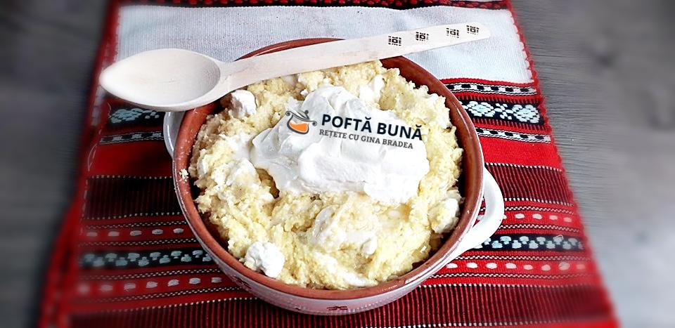 Balmos balmus reteta moldoveneasca ciobaneasca de mamaliga cu branza 2 - Balmos, reteta ciobaneasca, moldoveneasca, de mamaliga cu branza