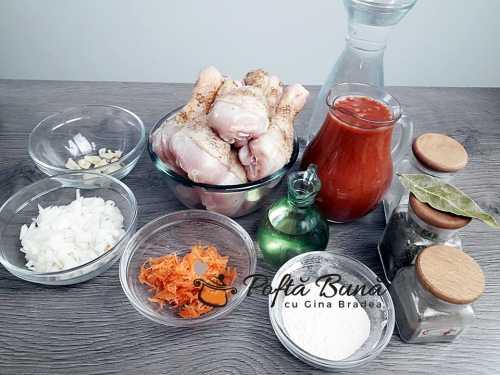 Ostropel de pui cu sos tomat reteta clasica simpla veche 1 500x375 - Ostropel de pui cu sos de rosii reteta clasica