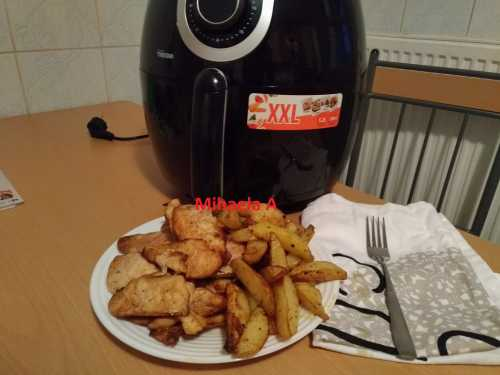 castigator friteuza 500x375 - Friptura de pui la friteuza, reteta rapida, ca la rotisor