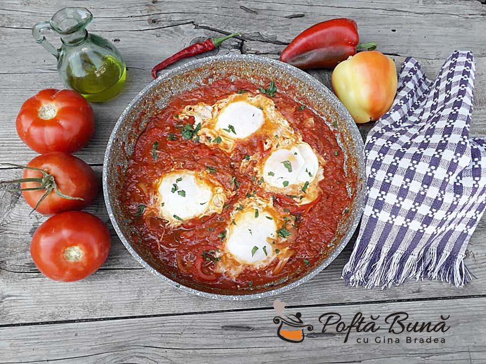 Shakshuka reteta de oua cu rosii si ardei5 - Shakshuka, reteta de oua cu rosii si ardei pentru micul dejun