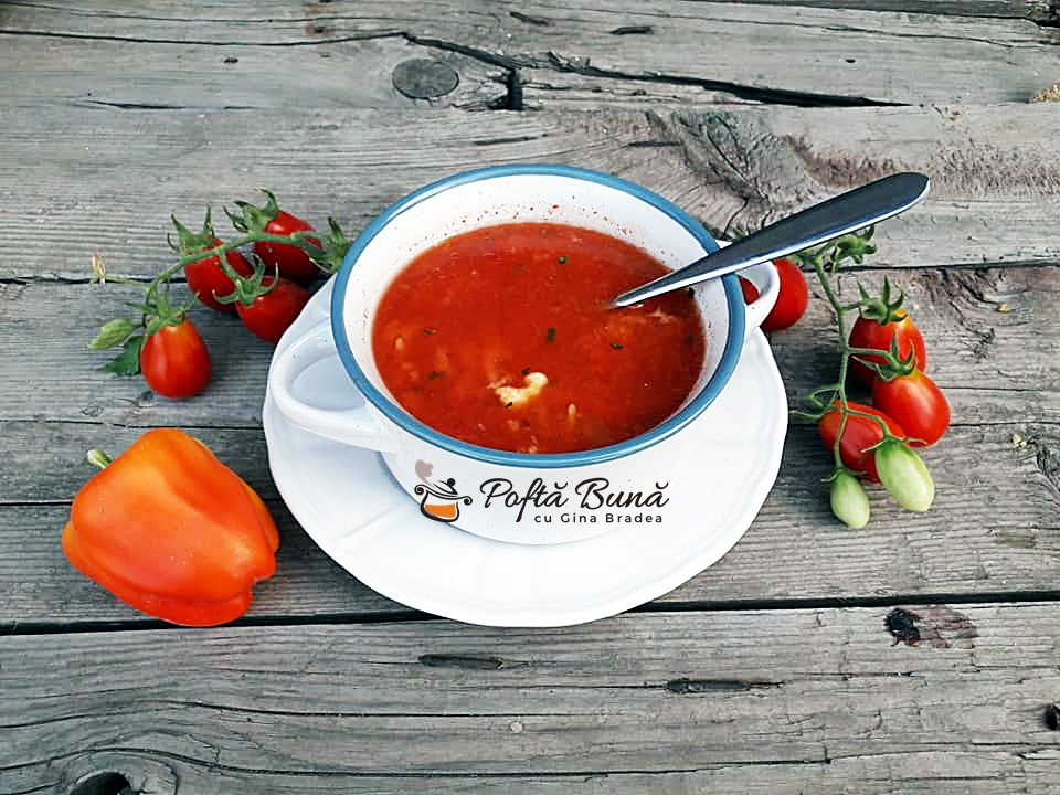 Supa de rosii cu taietei lenesi turnatei reteta rapida 3 - Supa de rosii cu taietei lenesi, turnatei, reteta rapida