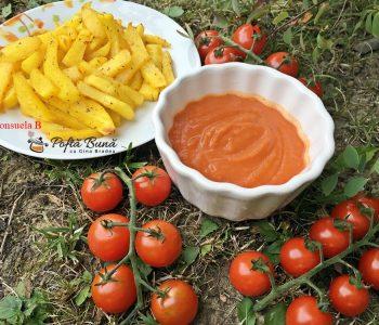 Ketchup de casa cu rosii si mere, reteta simpla, fara conservanti