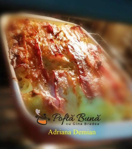 cartofi frantuzesti reteta gustoasa pas cu pas 3 444x500 - Cartofi frantuzesti la cuptor, cu oua fierte, smantana si afumatura