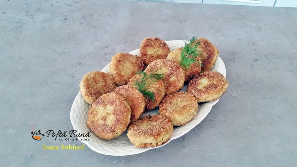 Chiftele din cartofi fierti cu marar si usturoi, reteta de post