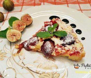 Clafoutis cu prune, reteta rapida de prajitura cu aluat fin