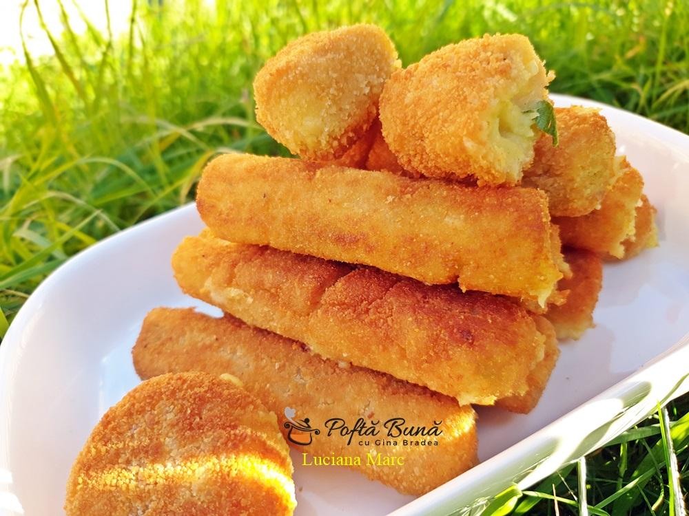 Crochete de cartofi cu cascaval si ceapa verde