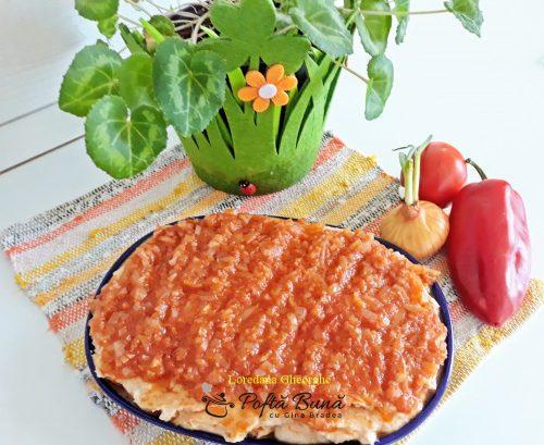 fasole batuta reteta simpla 6 500x409 - Fasole batuta cu sos de ceapa si rosii, reteta traditionala, de post