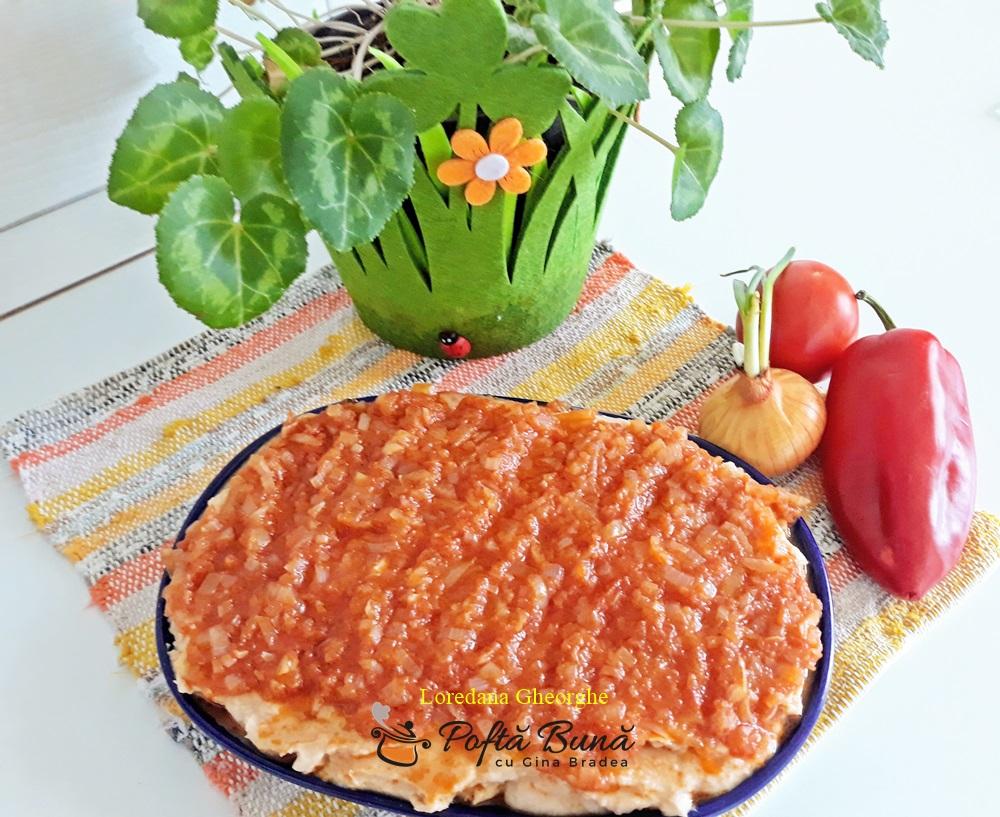 Fasole batuta cu sos de ceapa si rosii, reteta traditionala, de post