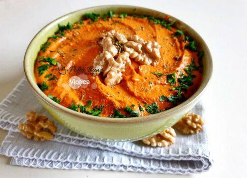 pasta de ardei kapia copt cu nuci reteta muhammara2 500x361 - Pasta de ardei kapia copt cu nuci sau reteta de Muhammara