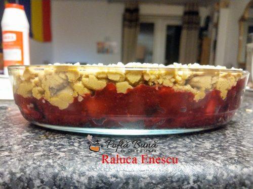 prajitura crumble cu fructe si crema de vanilie reteta pas cu pas4 500x375 - Prajitura crumble cu fructe si crema de vanilie